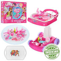 Детская игрушка Набор доктора Winx WX 0010 U/R, розовый, тележка, 18 предметов, очки, шприц