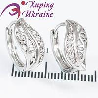 Серьги Английские Родированные Xuping «Блистательные XX»