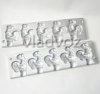 Алюминиевая форма для леденцов конфеты на палочке петушок