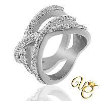 Кольцо женское из стали «Бесподобное IX»