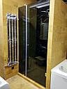 Душевая кабина 180 градусов с распашной дверью на стене, фото 2