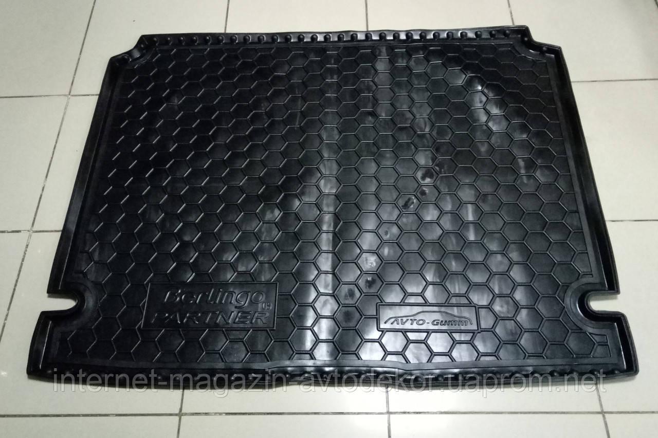 Коврик багажника резиновый для Citroen Berlingo 2008- Avto-gumm (Автогум)