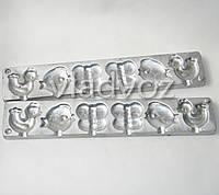 Алюминиевая форма для леденцов конфеты на палочке бабочка