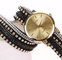 Женские часы с оригинальным ремешком Geneva Black