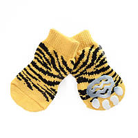 Носки антискользящие для собак, Dobaz Тигр  XL