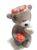 Мишка Тедди  с букетом роз , 3-D мыло ручная работа.