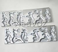 Алюминиевая форма для леденцов конфеты на палочке белочка