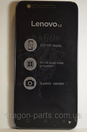 Дисплей Lenovo C2 (K10A40) с сенсором Black, оригинал, фото 2