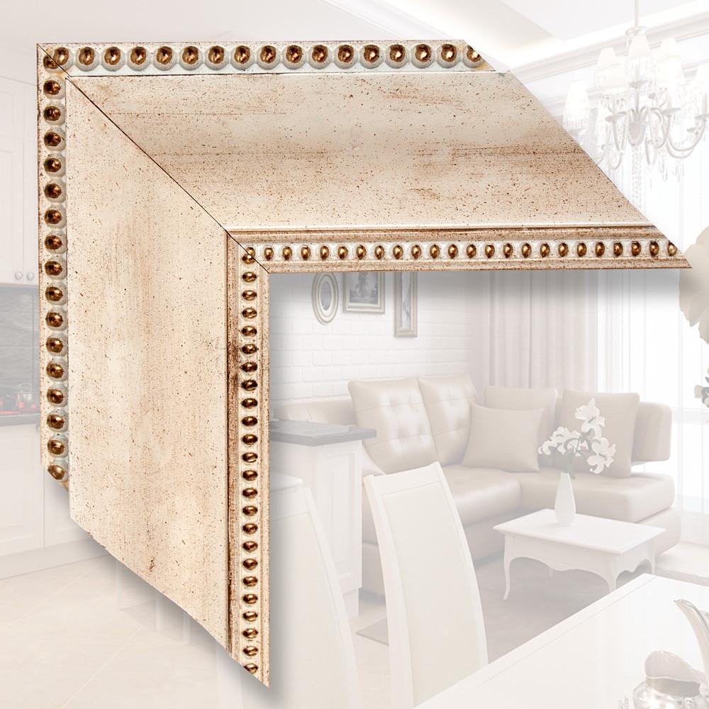 Зеркало в деревянном багете 9.9см