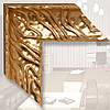 Зеркало в деревянном, золотом багете 101мм