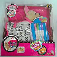 Собачка Сhi Сhi Love. Оригинал С сумочкой для раскрашивания 105895299 Simba Китай