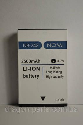 Аккумулятор Nomi i242 X-Treme (АКБ, Батарея) NB-242 , оригинал, фото 2