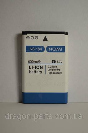 Аккумулятор Nomi i184 (АКБ, Батарея) NB-184 , оригинал, фото 2