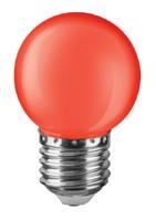 Лампа светодиодная 71827 NLL-G45-1-230-R-E27 шарообраз.красный