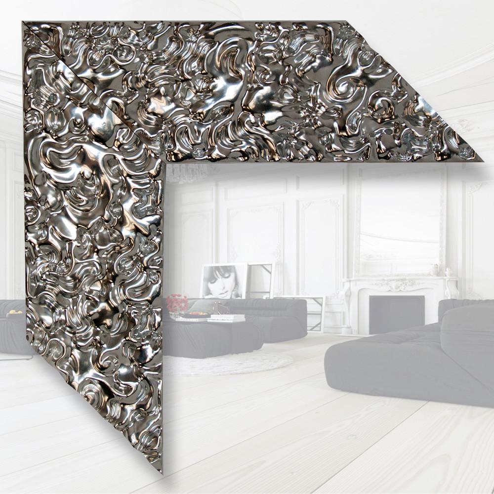 Зеркало в деревянном багете 79мм