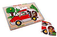 Игрушка - Мозаика - Красный автомобиль
