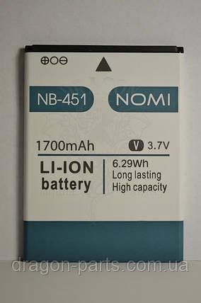 Аккумулятор Nomi i451 Twist (АКБ, Батарея) NB-451 , оригинал, фото 2