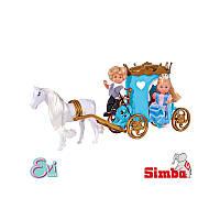 Кукольный набор Simba Эви и Тимми Карета 5738516