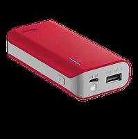 Аккумулятор со встроенным зарядным устройством Trust Primo Power Bank 4400 Red