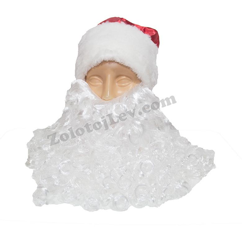 Набір шапка і борода Діда Мороза