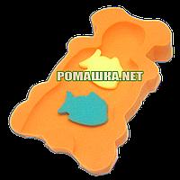 Польский поролон губка матрасик для купания в ванночку Польша 0286 Цвет Оранжевый