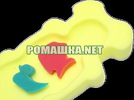 Польский поролон губка матрасик для купания в ванночку Польша 0286 Жёлтый