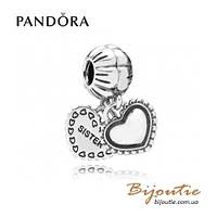 Pandora Шарм-подвеска МОЯ СЕСТРА #791383 серебро 925 Пандора оригинал