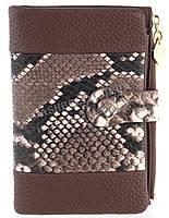 Удобный аккуратный женский кошелек на кнопке SACRED art. 16A-8801-В коричневый