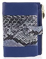 Удобный аккуратный женский кошелек на кнопке SACRED art. 16A-8801-В синий