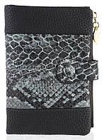 Удобный аккуратный женский кошелек на кнопке SACRED art. 16A-8801-В черный