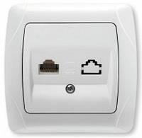 Розетка VIKO Carmen компьютерная Cat 5e скрытой установки  (белая)