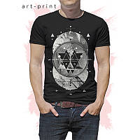 Черная футболка для мужчины Circles, фото 1