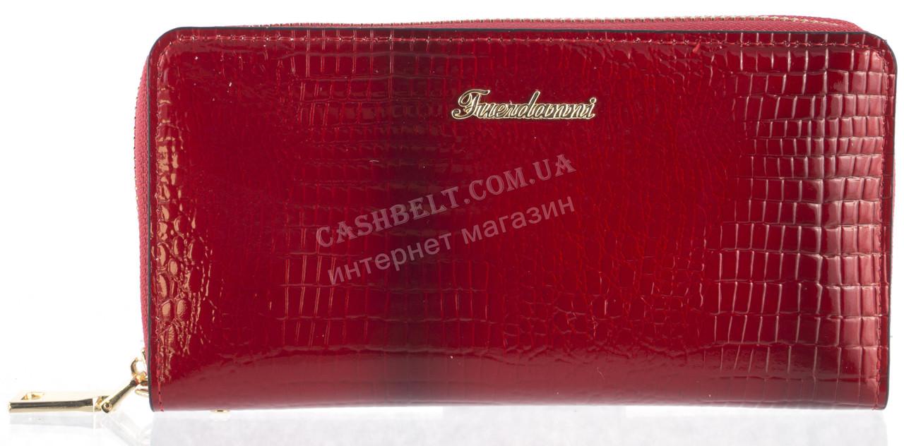Вместительный женский кошелек барсетка высокого качества FUERDANNI art.005 красный