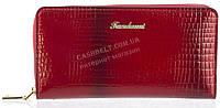 Вместительный женский кошелек барсетка высокого качества FUERDANNI art.005 красный, фото 1