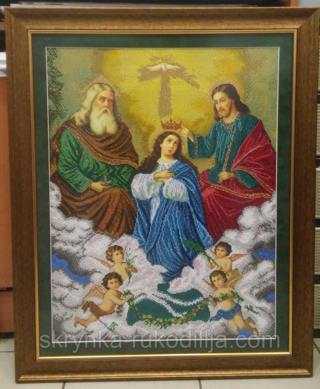 Вишивка бісером ікона  Коронування Пресвятої Богородиці 60х68