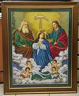 Вишивка бісером ікона  Коронування Пресвятої Богородиці 60х68, фото 1