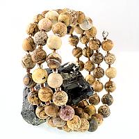 Яшма песочная, браслет пружина, 146БРЯ, фото 1