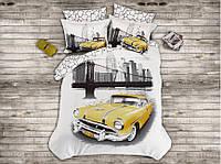 Комплект постельного белья Prima casa Yellow Taxi 3D Бамбук 200*220
