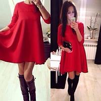 Трикотажное платье балахон