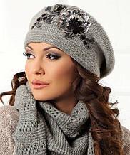 Очень теплый и стильный беретик коллекции Betina Польша
