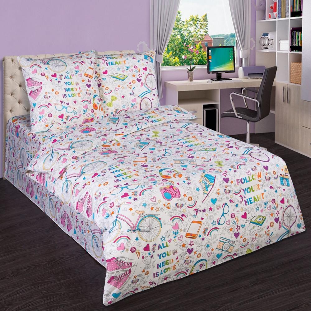 Подростковый комплект постельного белья Модные штучки, поплин