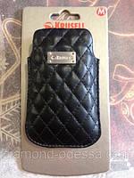 Кожаный чехол-карман Krusell Black M опт