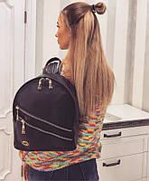Женский черный рюкзак с эко-кожей