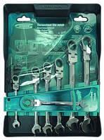 Набор ключей комбинированных GROSS с трещоткой, 8 - 19 мм, 7шт., CrV 14891