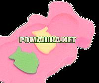Поролон губка матрасик для купания в ванночку Польша 0286 Розовый