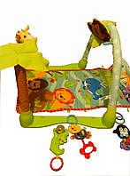 Развивающий коврик с дугами и игрушками