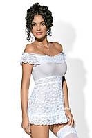 Эротическая сорочка кружевная Obsessive (Обсессив) Flores, фото 1