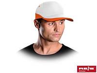 Бейсболка бело-оранжевая (кепка)