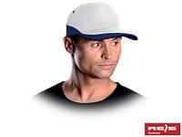 Бейсболка бело-синяя (кепка)