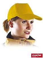 Бейсболка желтая (кепка)
